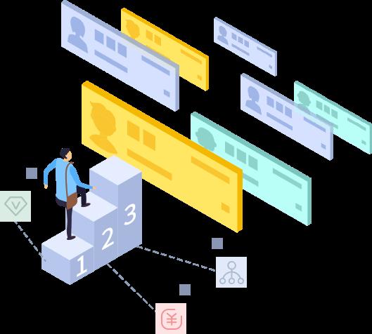 """名片电商,是以""""小程序名片+商城""""的产品形式,通过一张小程序""""名片"""",让每个人都贡献一份流量汇集至企业小程序,并支持三重裂变叠加推广,平台促进成交,实现企业全员销售"""