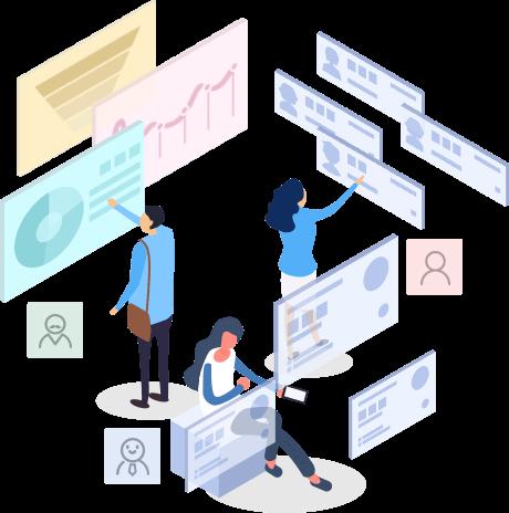 汇客推基于微信小程序自主研发的微信销售CRM系统,以客户数据的管理为核心,利用信息科学技术,实现市场营销、销售、服务等活动自动化,并建立一个客户信息的收集、管理、分析、利用的系统,微信CRM系统职责分明,划分控制员工权限